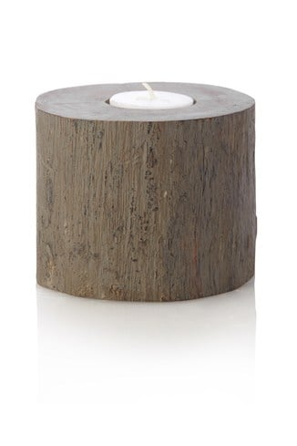 Grey Mango Wood Votive