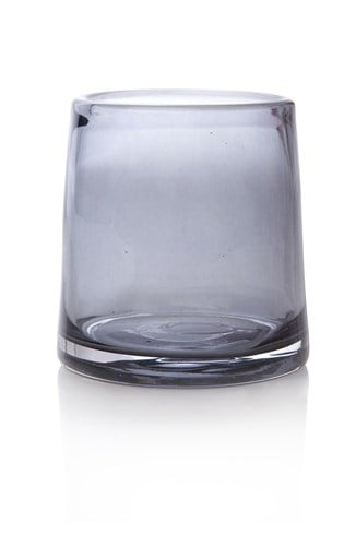 Grey Glass Large Tealight Holder