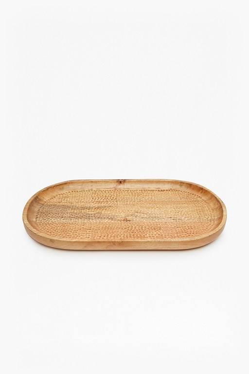 Complete the Look Large Hammered Mango Tray