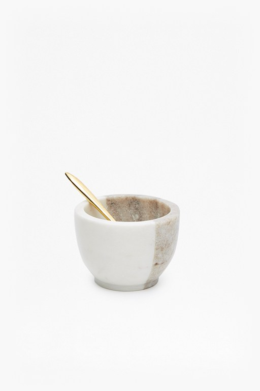 pinch pot with spoon