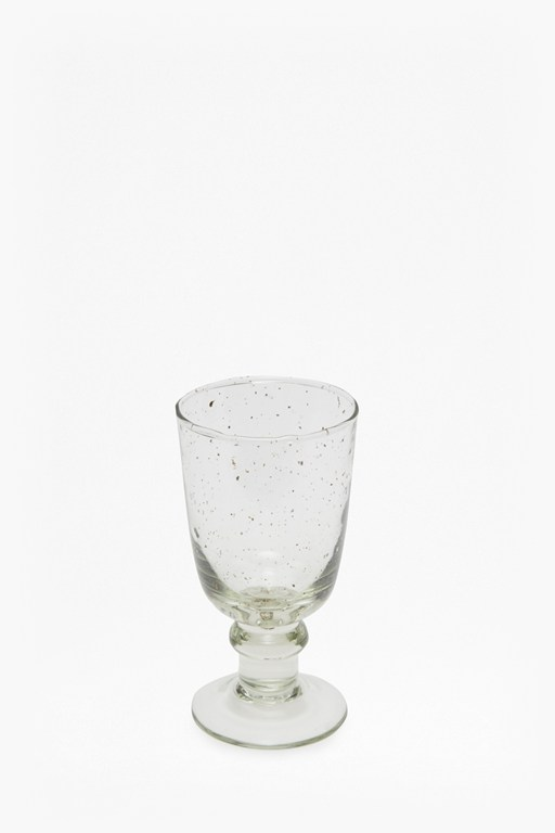 luxe recycled glass clear wine glass
