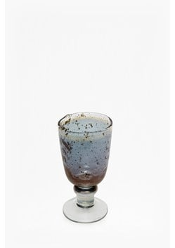 Luxe Blue Wine Glass