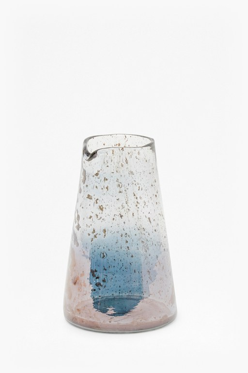 tapered recycled glass small pitcher