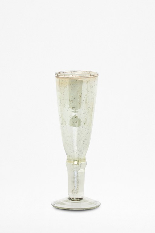 luxe green champagne flute