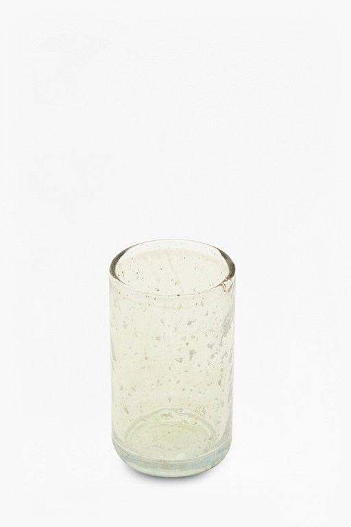 luxe green small glass tumbler