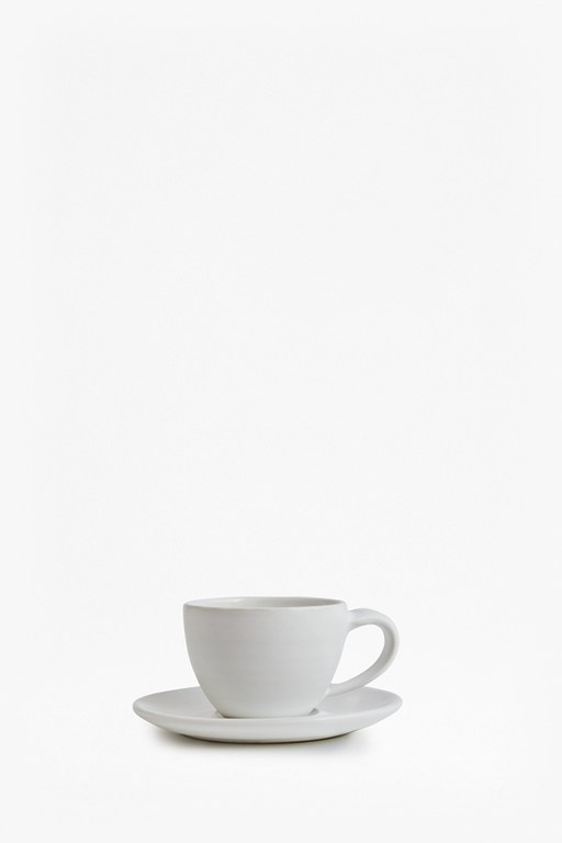 artisan white espresso cup and saucer
