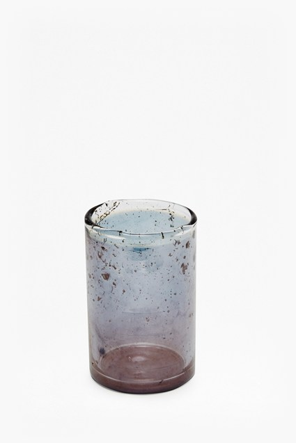 Luxe Small Blue Glass Tumbler
