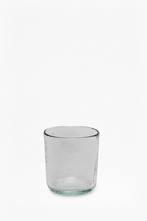 medium hammered glass tumbler