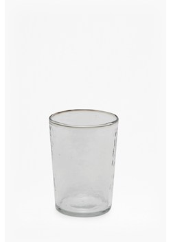 Large Hammered Glass Tumbler