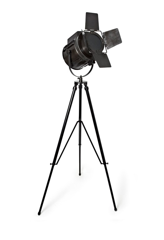 Black Metal Photographer's Lamp