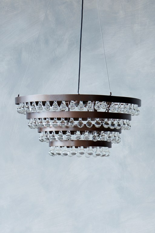 tiered droplet chandelier