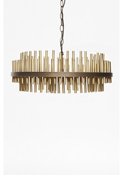 Gold Pipe Ceiling Light