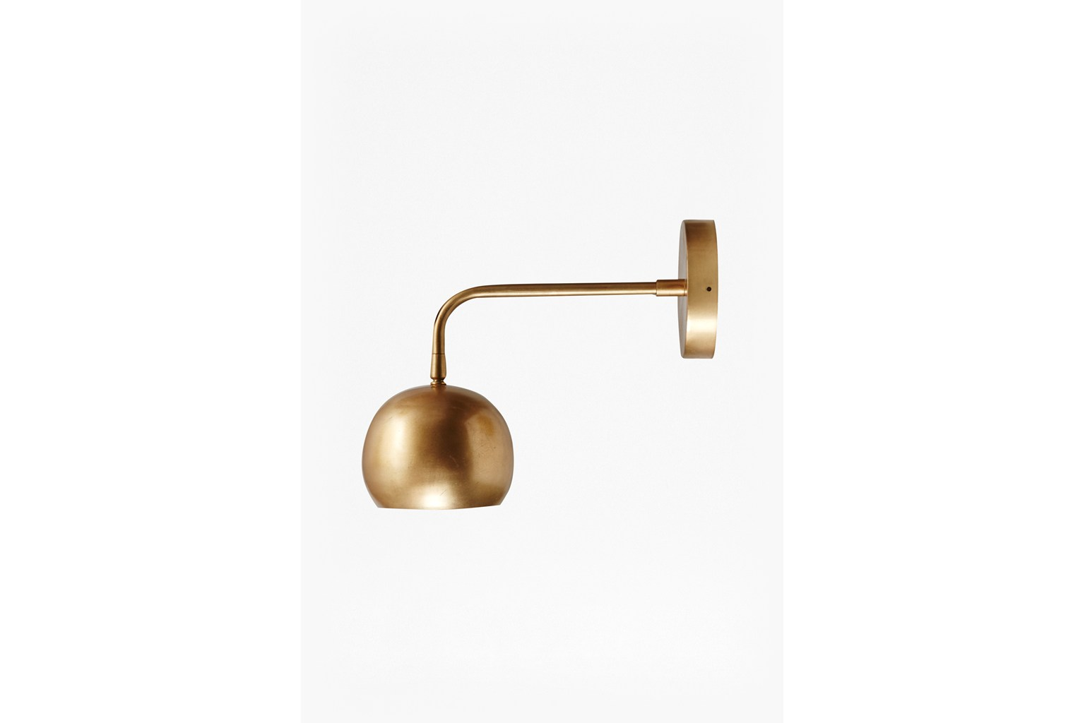 Spun Done Wall Lamp - brass