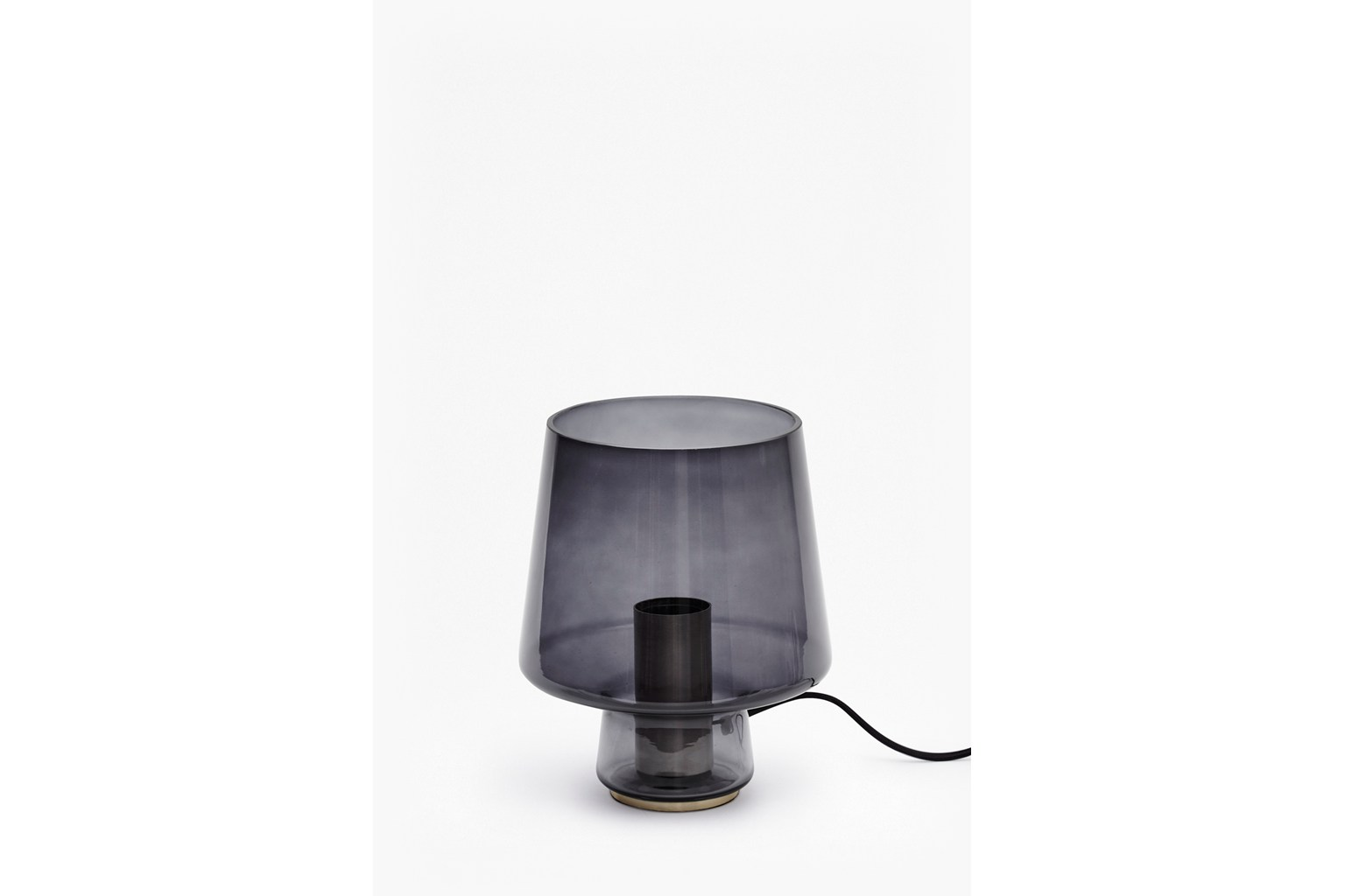 Smoked Table Lamp - smoked glass