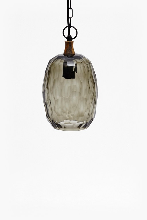 Complete the Look Thick Cut Glass Ceiling Lamp