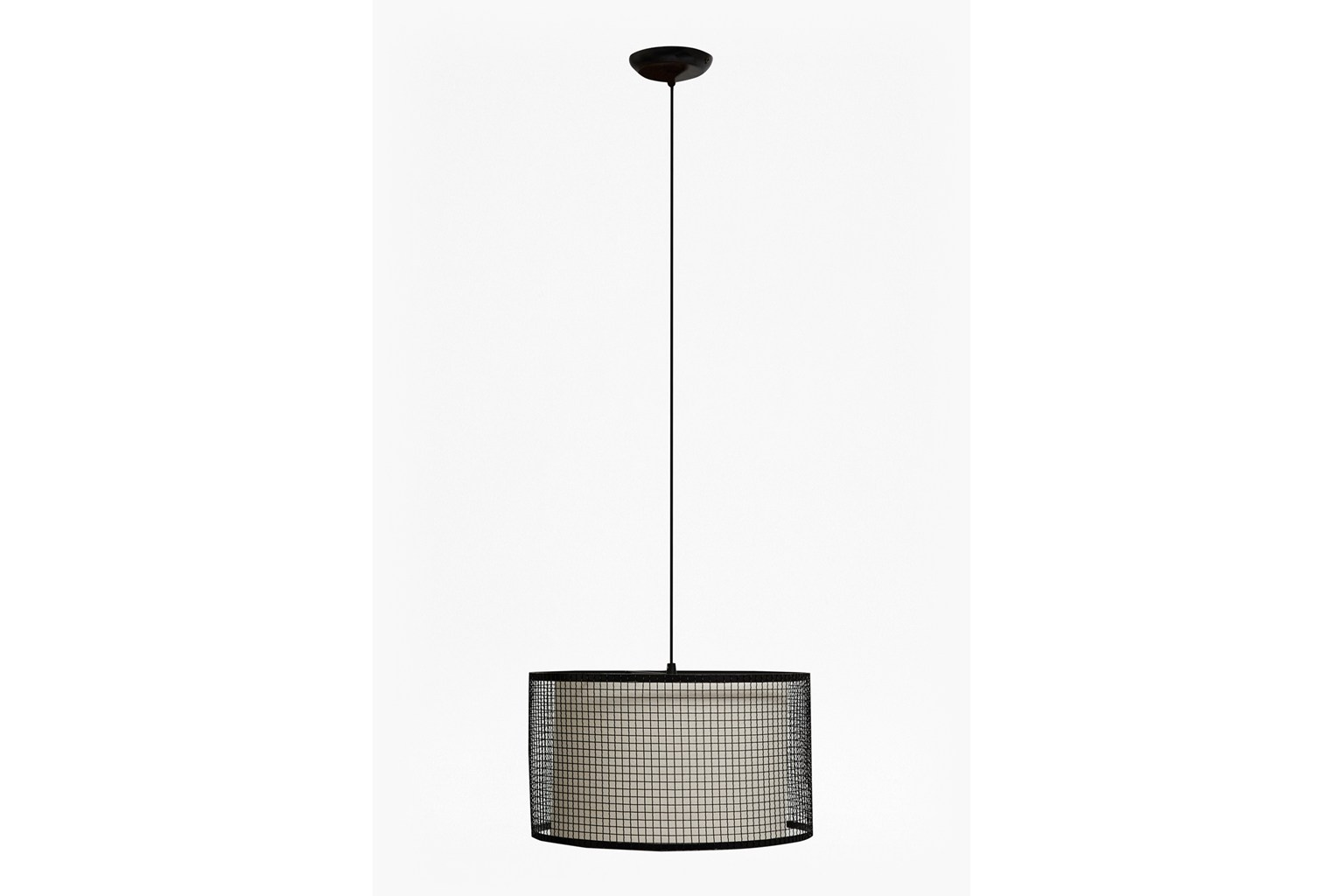 Chain Link Ceiling Lamp - gunmetal
