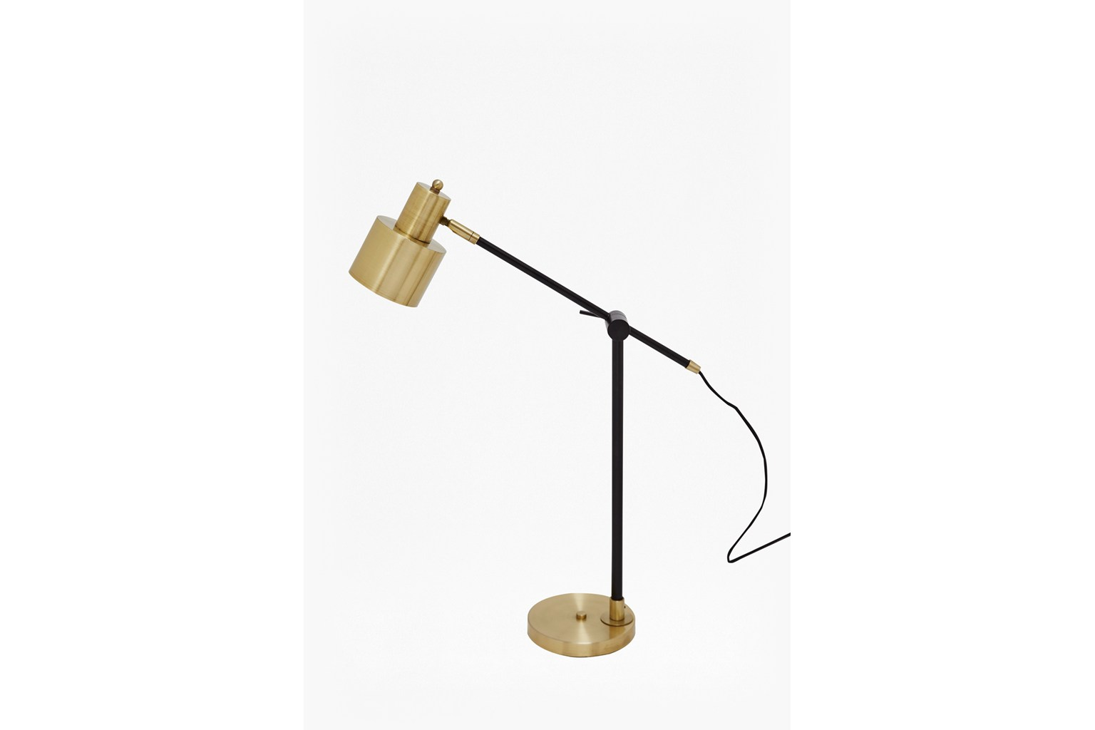 Brass and Matte Black Table Lamp - brass and black