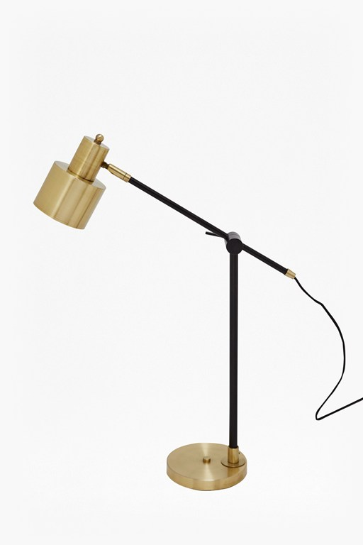 Complete the Look Brass and Matte Black Table Lamp