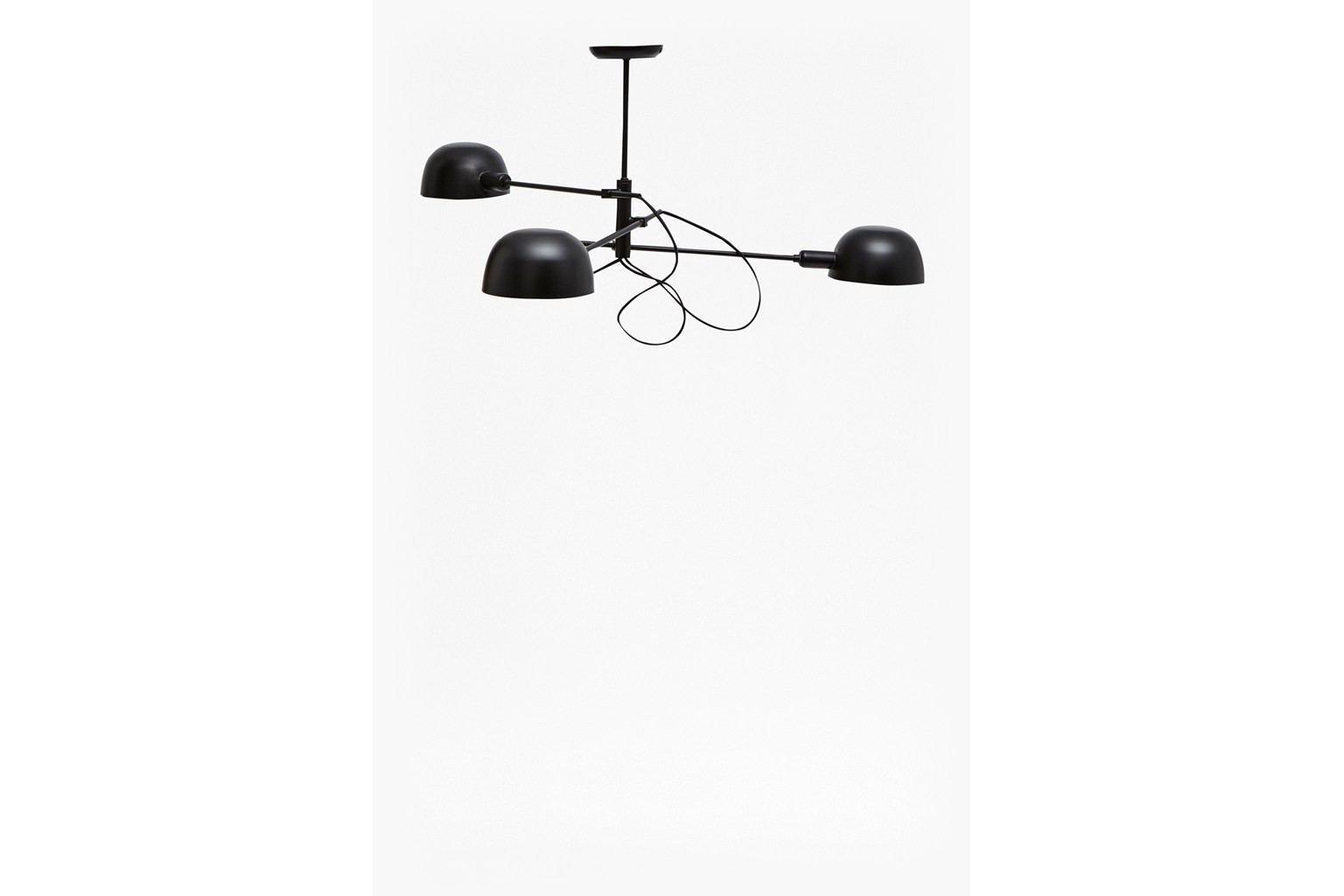Matte Black Triple Ceiling Lamp - matte black