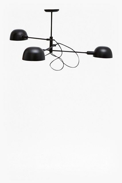 Matte Black Triple Ceiling Lamp