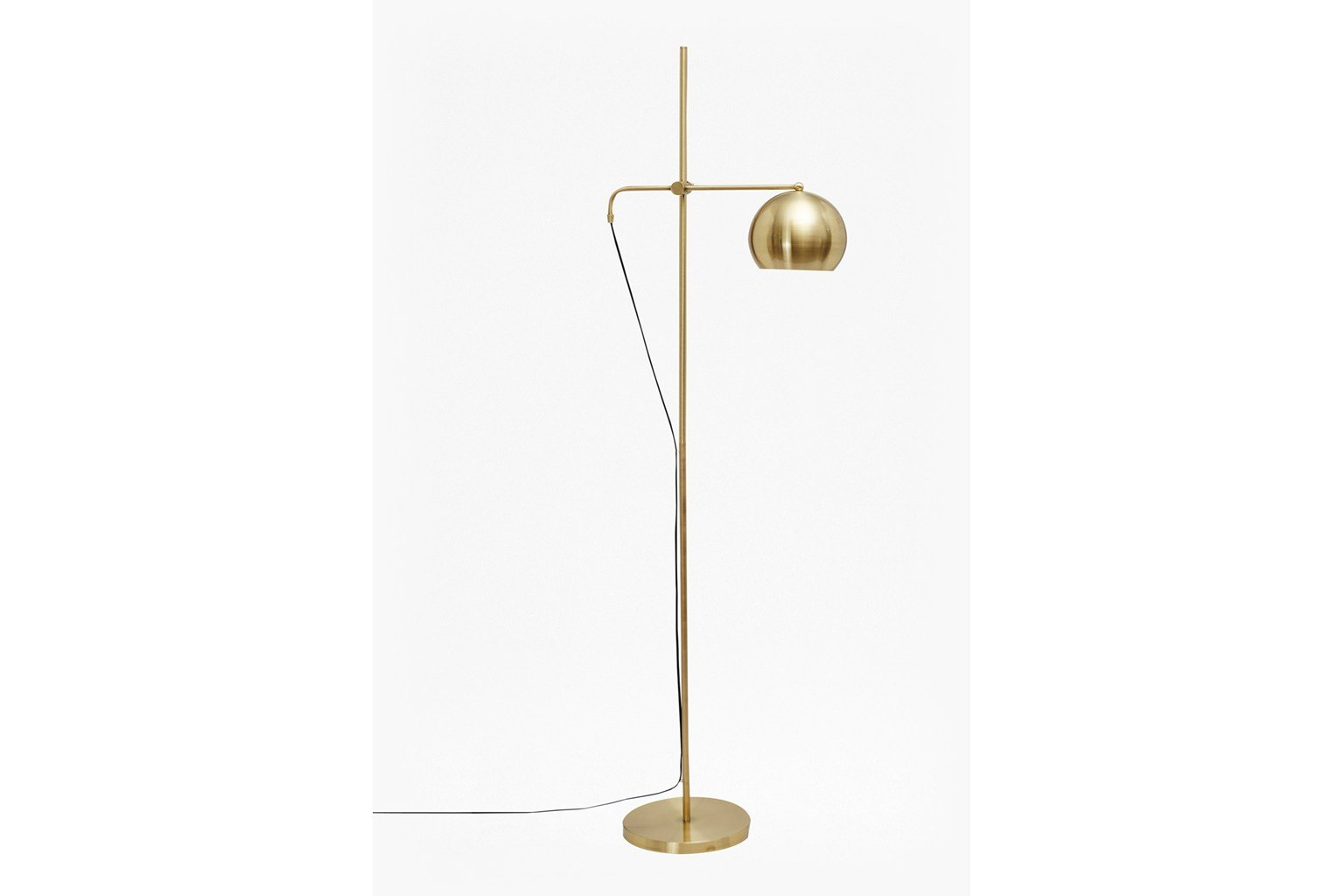 Spun Done Floor Lamp - brass