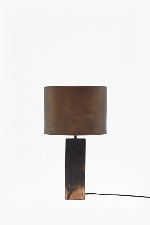 burnt wood ombre table lamp