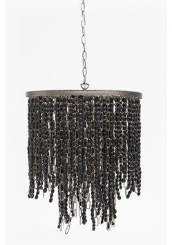 Wooden Bead And Chain Pendant Light