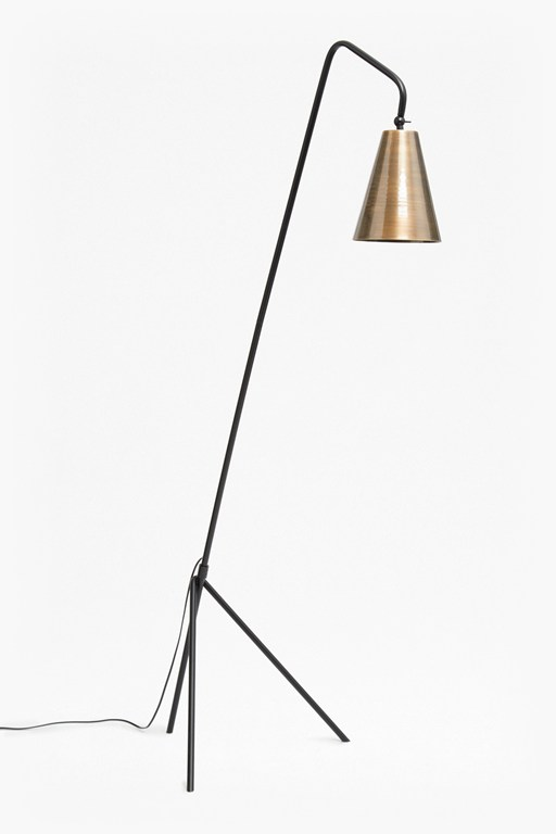 conical brass floor lamp