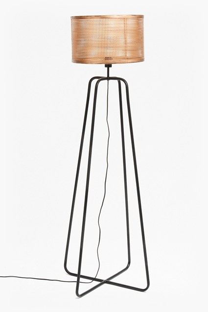 Metal Mesh Shade Floor Lamp