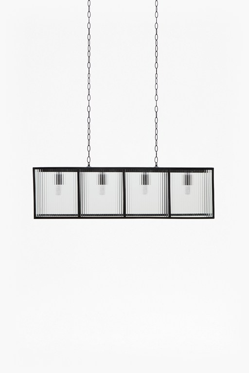 corrugated glass large pendant light