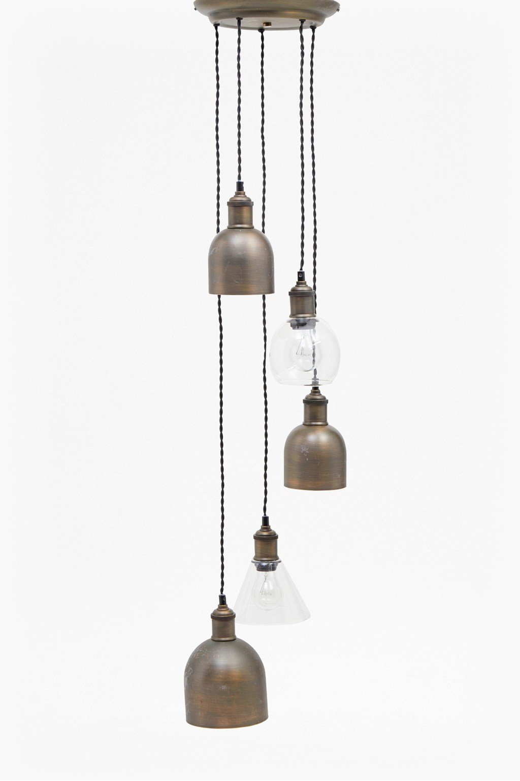 Multi finish cluster pendant light loading images