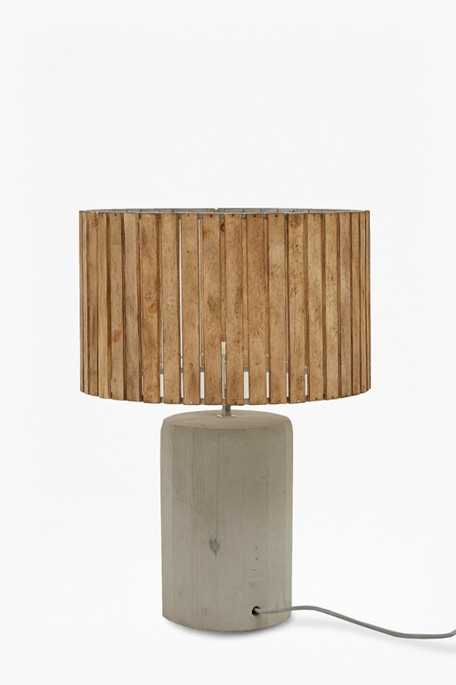 wooden slats table lamp