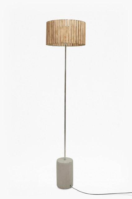 Wooden Slats Floor Lamp