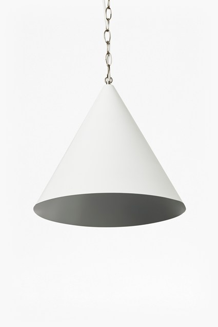 White Cone Ceiling Light