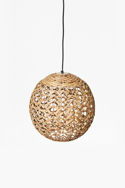 thatched globe light