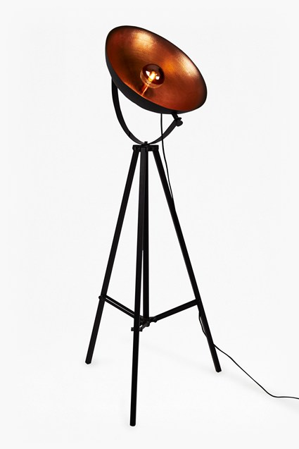Hammered Copper Floor Lamp