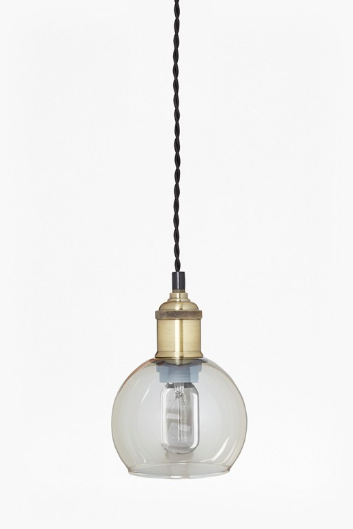 Complete the Look Brass Single Pendant Ceiling Lamp