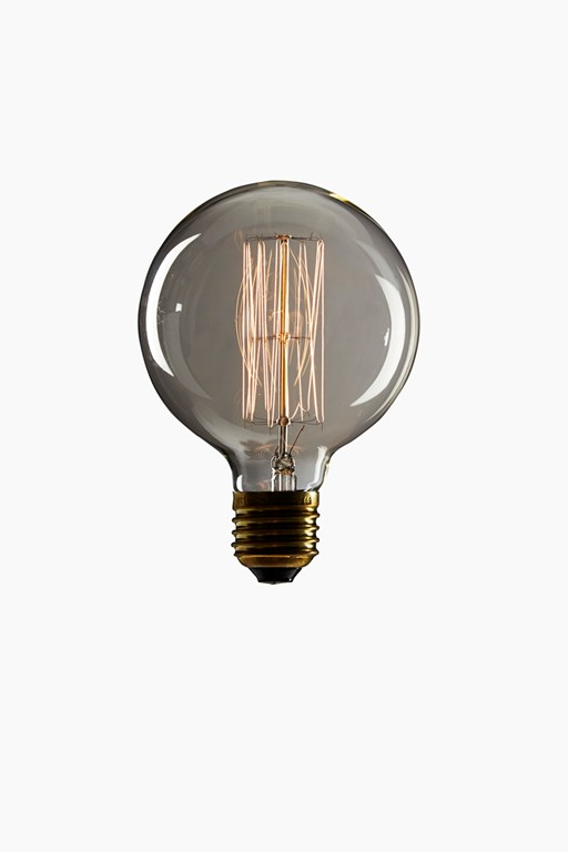 vintage large globe screw lightbulb abc2505
