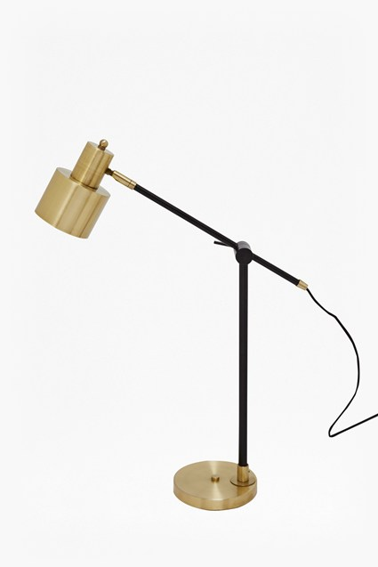 Brass and Matte Black Table Lamp
