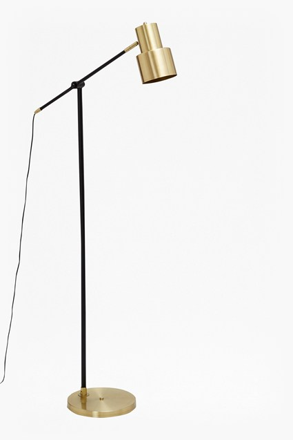 Brass and Matte Black Floor Lamp