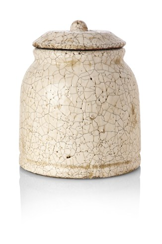 Ceramic Crackle Pot