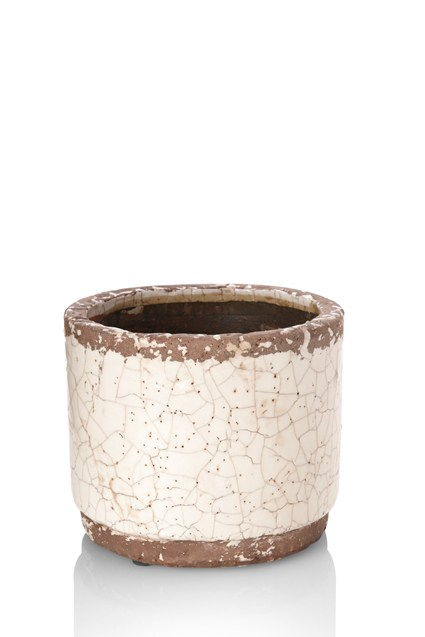 Crackle Planter Pot