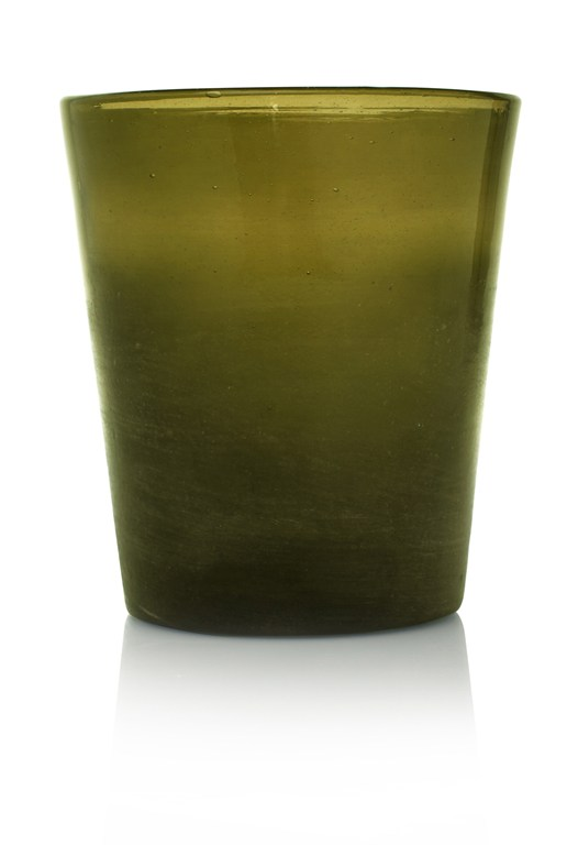 Green Glass Pot