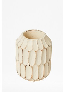 Almond Carved Ellipse Vase