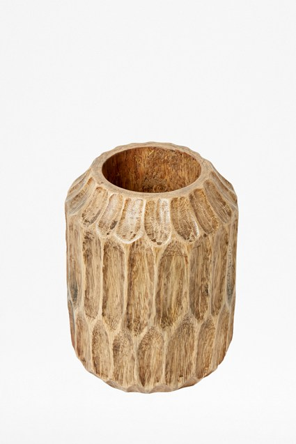 Natural Carved Ellipse Vase