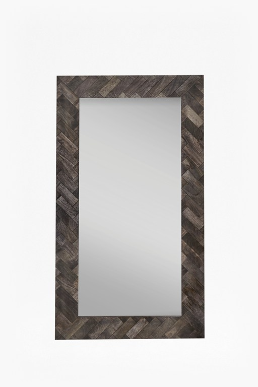 Complete the Look Large Parquet Mirror
