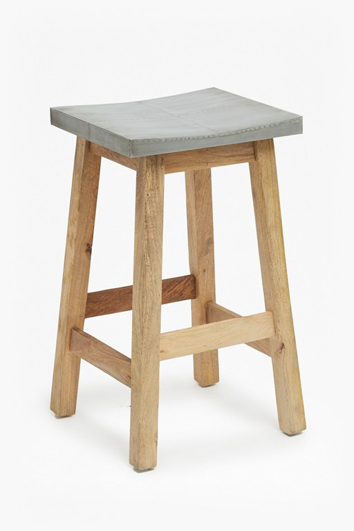 Complete the Look Zinc Stool