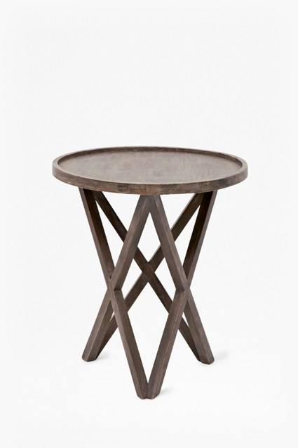 Salvage Wood Pyloned Side Table