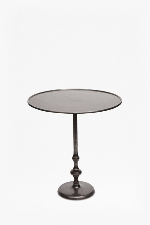 gunmetal bistro side table