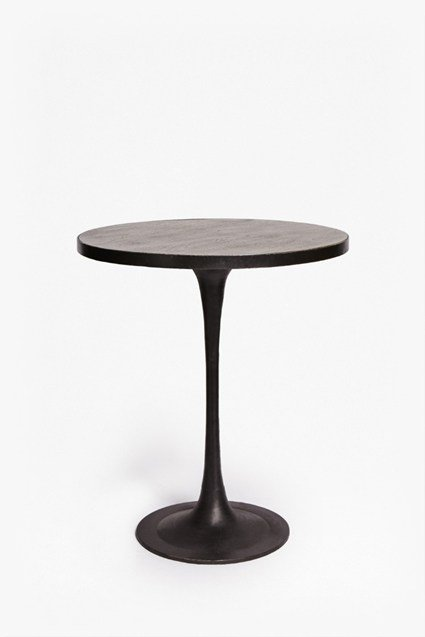 Metal and Wood Bistro Table
